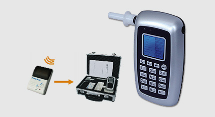 AT8800 alcohol breath analyser with printer